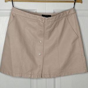 Forever 21 Pleather Mini Skirt Blush Pink Large